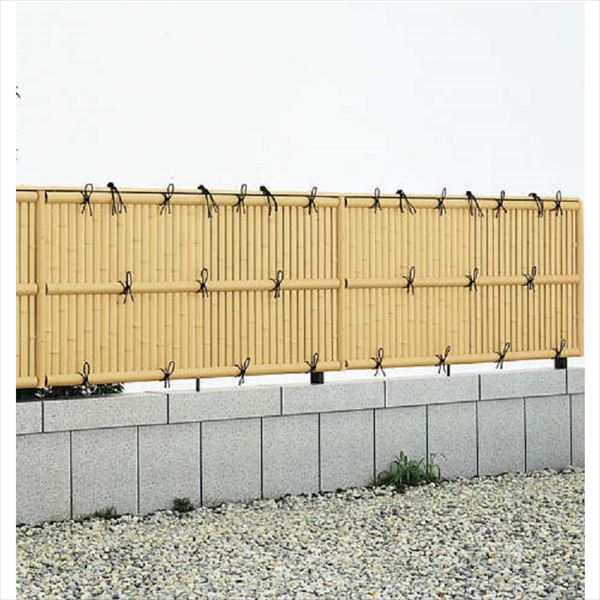 YKKAP 竹垣風フェンス 建仁寺垣 本体 コーナー部用 T180 両面タイプ 真竹調