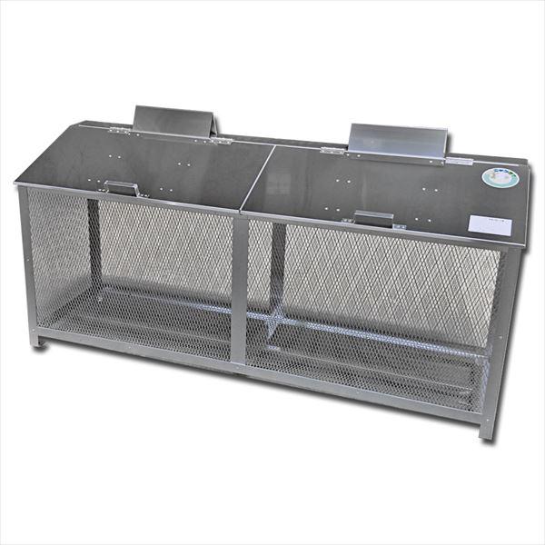 サステック ゴミ収納BOX ワンニャンカア  BH-180  『ゴミ袋(45L)集積目安 15袋、世帯数目安 7世帯』『ゴミ収集庫』『ダストボックス ゴミステーション 屋外 ステンレス』