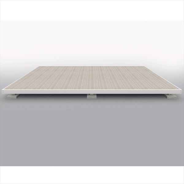 一番の 屋外フローリング ラステラ  人工木  樹脂デッキの進化形』:エクステリアのキロ支店   『ウッドデッキ 5.0間×3尺 H=700 3030 標準納まり 束柱・固定  三協アルミ  シングルフレームタイプ-エクステリア・ガーデンファニチャー