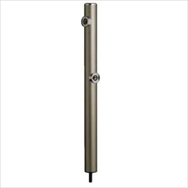 前澤化成工業 2口丸型アルミ水洗柱 『下取出タイプ』 HI-16WR×960 シャンパン