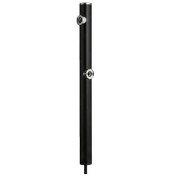 前澤化成工業 2口丸型アルミ水洗柱 『下取出タイプ』 HI-16WR×960 ブラック