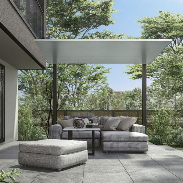 リクシル テラスSC 2.0間×7尺 標準柱 『独立テラス アルミ屋根』