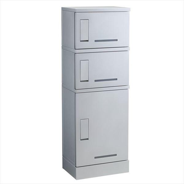 Kawamura ルスポ シェア(SHARE)集合住宅用 ボックス3段 架台設置タイプ KD3-31C 『宅配ボックス』