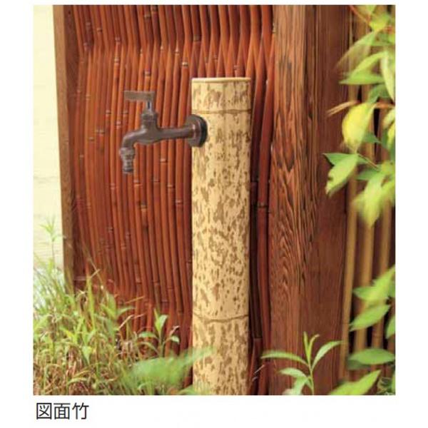 タカショー ガーデン水栓柱 75角R 『水栓柱・立水栓セット(蛇口付き)』