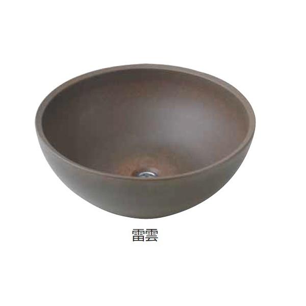タカショー 陶器 ガーデンシンク 雷雲 『水栓柱・立水栓 水受け(パン)』 雷雲