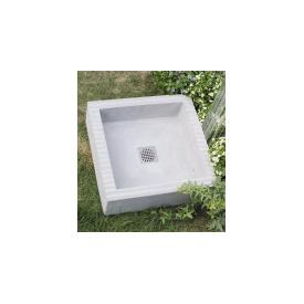 ニッコー 立水栓ユニット クレスパン 『水栓柱・立水栓 水受け(パン) ニッコーエクステリア』 グレー