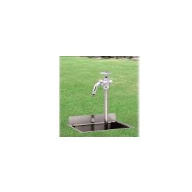 ニッコー 伸縮式立水栓 D-EN3 呼び長さ400mm 『散水栓 立水栓 ニッコーエクステリア』 シルバー