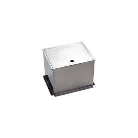 ニッコー 給水栓ボックス(蓋収納タイプ) HAS-FB2N 『散水栓 立水栓 ニッコーエクステリア』 シルバー