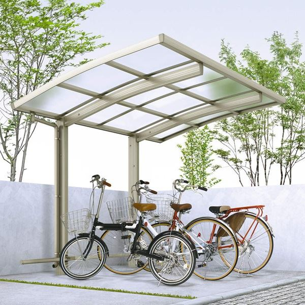 サイクルポート YKKAP レイナポートグラン ミニZ 29-21 ポリカ屋根 基本セット 『サビに強いアルミ製 家庭用 おしゃれ 自転車置き場 屋根』
