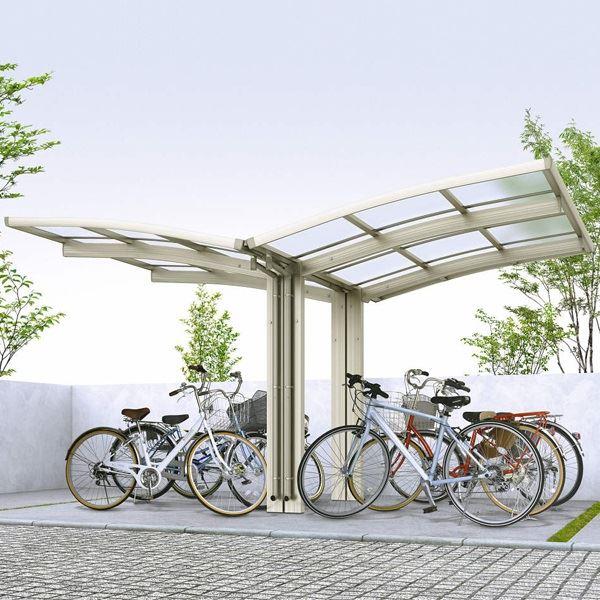 サイクルポート YKKAP レイナポートグラン ミニ Y22・21-21 ポリカ屋根 Y合掌セット 『サビに強いアルミ製 家庭用 自転車置き場 屋根』