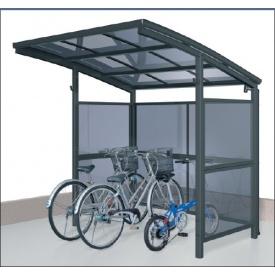 サイクルポート 三協アルミ スマイリン 積雪地型 2121 前面・側面パネル 2段タイプ 『サビに強いアルミ製 家庭用 自転車置き場 屋根』