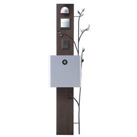 オンリーワン ウェルカムピラー機能門柱 ナチュラBtype 天然木仕様 K45型 KE1-K45L 【機能門柱 機能ポール】