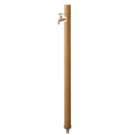 タカショー エバーアートウッド 不凍水栓柱 『水栓柱・立水栓セット(蛇口付き)』 ナチュラルパイン