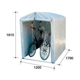 自転車置き場 アルミス アルミサイクルハウス2.5S-SV型 『DIY向け テント生地 家庭用 サイクルポート 屋根』 シルバー