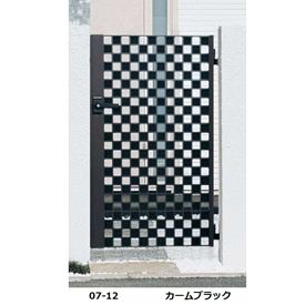 YKKAP シャローネ門扉 SC02型 07-12 門柱・片開きセット