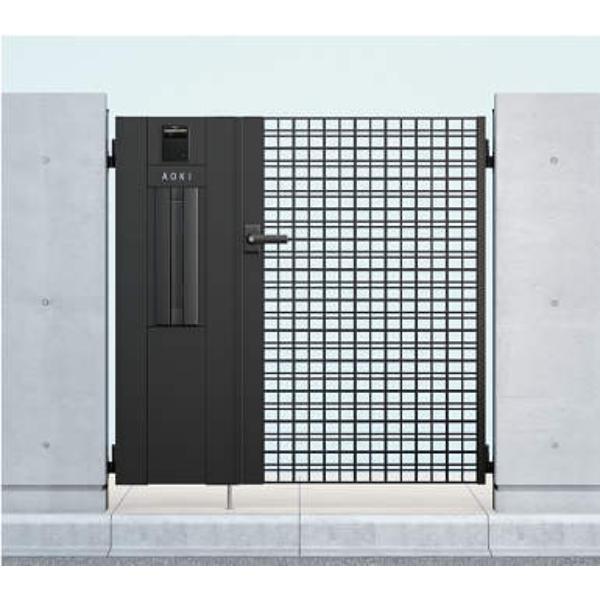 YKKAP シャローネ門扉 SC04型 04・08-12R(L) 門柱・親子開きセット 機能子扉ADセット
