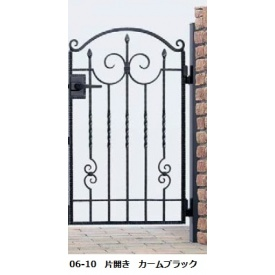 YKKAP シャローネシリーズ トラディシオン門扉1型 06-10 門柱・片開きセット