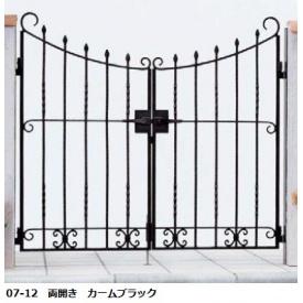 YKKAP シャローネシリーズ トラディシオン門扉4型 07-12 門柱・両開きセット