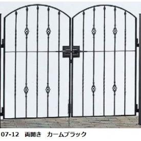 YKKAP シャローネシリーズ トラディシオン門扉5B型 08-12 門柱・両開きセット