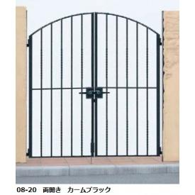 YKKAP シャローネシリーズ トラディシオン門扉6型 08-20 門柱・両開きセット