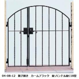 YKKAP シャローネシリーズ トラディシオン門扉6型 04・08-12 門柱・親子開きセット
