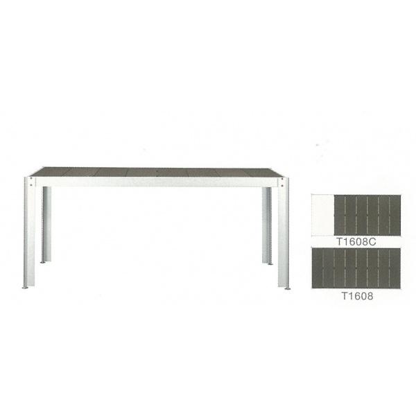 送料無料【クレスコ】「庭」という条件で、安心してご利用頂けるロングライフ商品 クレスコ クッキンガーデン 長方形テーブル(4~6人用) 人工大理石付き T1608C 『ガーデンテーブルセット』
