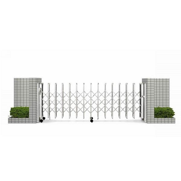 YKKAP 伸縮ゲート レイオス1型(太桟) 片開き親子 10-34S H12 PGA-1 『カーゲート 伸縮門扉』