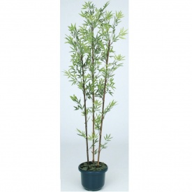 黒竹3本立 #21409900 鉢付 『人工植栽』 グリーンデコ和風 GD-21LH 1.8m タカショー