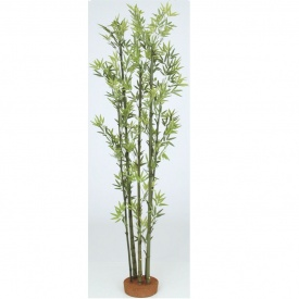 『人工植栽』 タカショー グリーンデコ和風 青竹5本立 鉢無 1.5m GD-51S #21515700