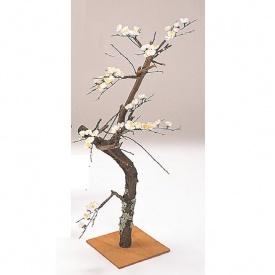 『人工植栽』 タカショー グリーンデコ和風 白梅 90cm GD-77