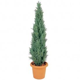 『人工植栽』 タカショー グリーンデコ鉢付 ヒバツリー ライトグリーン 1.5m GD-105L