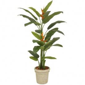 『人工植栽』 タカショー グリーンデコ鉢付 ヘリコニア 丸鉢 2.1m GD-158B