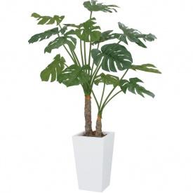 『人工植栽』 タカショー グリーンデコ鉢付 モンステラ 2本立 1.4m GD-186