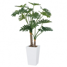 セローム タカショー グリーンデコ鉢付 2本立 GD-185 『人工植栽』 1.4m
