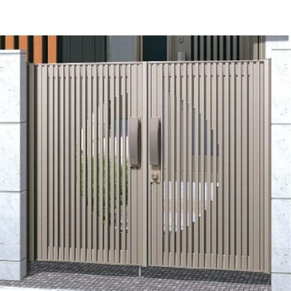 【まとめ買い】 三協アルミ Jモダン2型門扉 0918 両開き 門柱タイプ MJ-2 アーバングレー, カワサキムラ 77d8e392