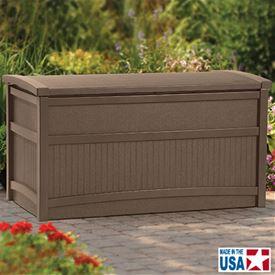 SUNCAST デッキボックス DB5000B 50ガロンチェアーボックス   『サンキャスト おしゃれ 物置小屋 屋外 DIY向け』 ブラウン