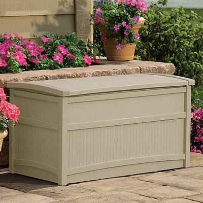 SUNCAST デッキボックス DB5000 50ガロンチェアーボックス   『サンキャスト おしゃれ 物置小屋 屋外 DIY向け』 ホワイト