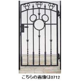 リクシル 新日軽 ディズニー門扉 角門柱式 ミッキーA型 0612 片開き ブラック
