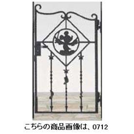 リクシル 新日軽 ディズニー門扉 角門柱式 ミッキーB型 0610 片開き ブラック