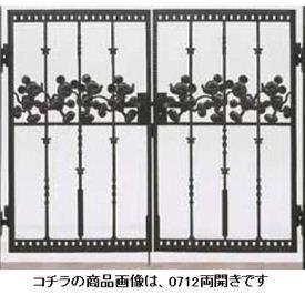 リクシル 新日軽 ディズニー門扉 角門柱式 ミッキーC型 0812 両開き ブラック