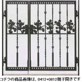 リクシル 新日軽 ディズニー門扉 角門柱式 ミッキーC型 0410+0810 親子開き ブラック