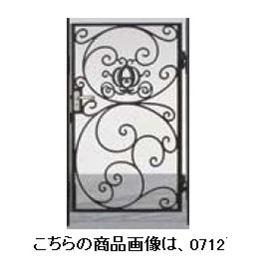 リクシル 新日軽 ディズニー門扉 角門柱式 プリンセスA型(かぼちゃの馬車) 0810 片開き ブラック