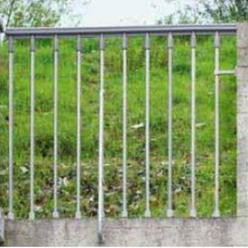 アルケ 室外用階段 スチールジンク オプション 欄干キット (本体と同時購入価格)  亜鉛メッキ