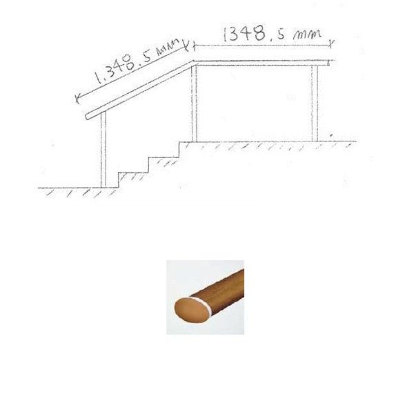 『セット販売』 YKKAP 歩行補助用手すり パルトナーUDフェンス1型 C型笠木 1コーナーセット  手すり:樹脂カラー