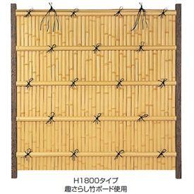 タカショー エバーバンブーセット エバー15型 60角柱(両面) こだわり竹セット 基本型(両柱) 『竹垣フェンス 柵』
