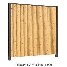 タカショー エバー 8型セット(エバー竹林) 85角柱(片面) 基本型(両柱) 高さ1800タイプ 『竹垣フェンス 柵』 枯竹/さらし竹