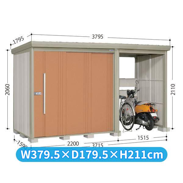 タクボ物置 TP/ストックマンプラスアルファ TP-Z3715 一般型 結露減少屋根 『追加金額で工事も可能』 『駐輪スペース付 屋外用 物置 自転車収納 におすすめ』 トロピカルオレンジ