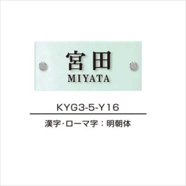 エクスタイル 機能門柱用表札 ガラス表札 スリムタイプ YEG3A-101 『機能門柱 YKK用』 『表札 サイン 戸建』