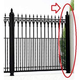 四国化成 ロードスフェンス角飾り支柱仕様 01:角飾り端柱 (コーナー柱兼用) 01KEP-12BK 『アルミフェンス 柵』 ブラックつや消し