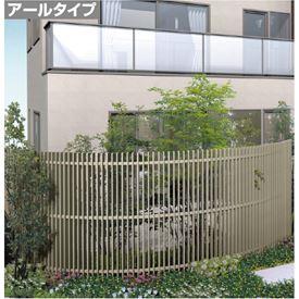 四国化成 エル パーテーションA1型 アールタイプ本体 R38 H1800サイズ LPTA1-R3818SC 『樹脂フェンス 柵』 ステンカラー